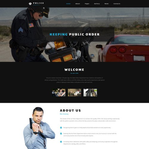 Police Department - Joomla! Template based on Bootstrap