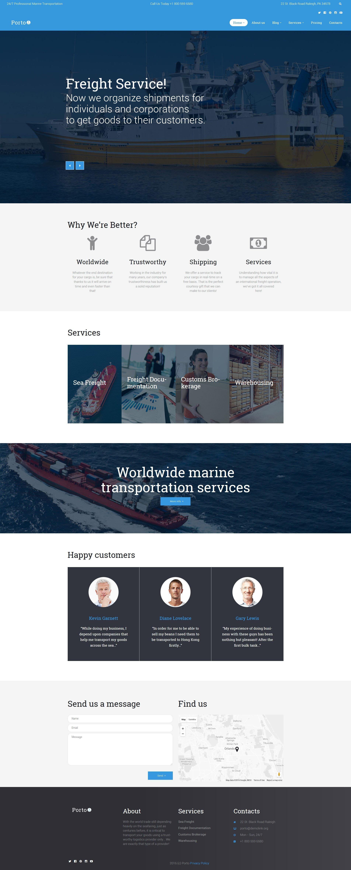 """Porto - Seafaring, Transportation and Logistics"" Responsive WordPress thema №60123 - screenshot"