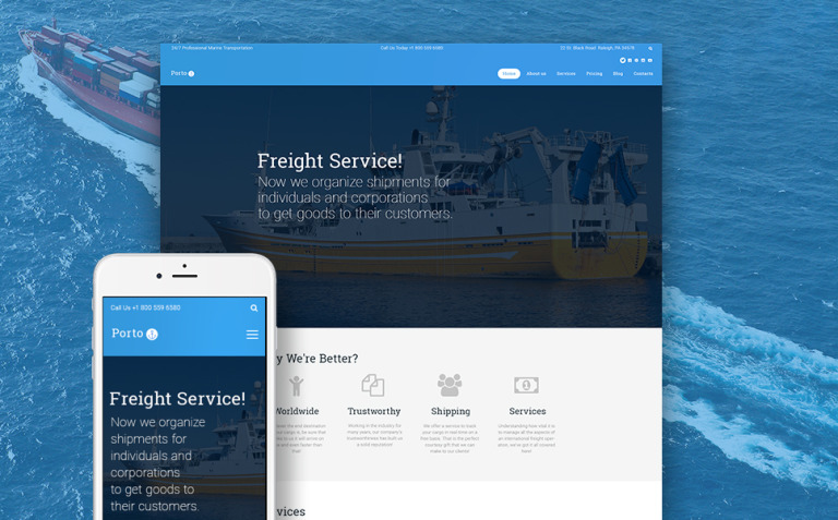 Porto - Seafaring, Transportation and Logistics WordPress Theme New Screenshots BIG