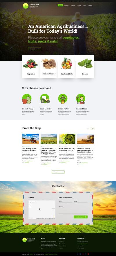 Responsive Çiftlik  Wordpress Teması #60117