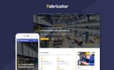Responsive Website Vorlage für Industrie