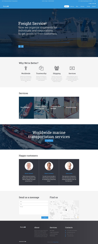 "Responzivní WordPress motiv ""Porto - Seafaring, Transportation and Logistics"" #60123"