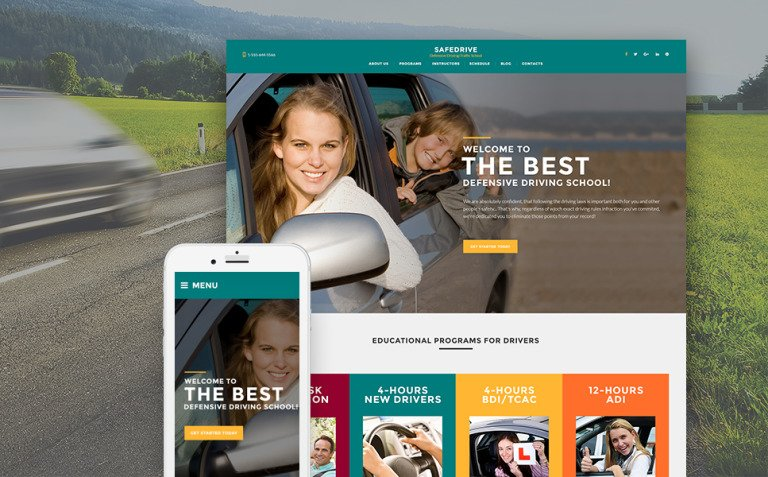 SafeDrive - Driving School Responsive WordPress Theme New Screenshots BIG