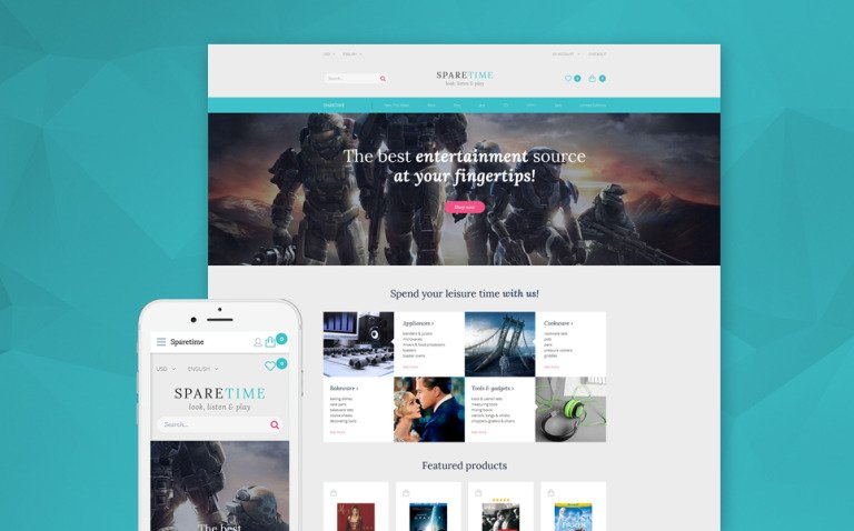 Spare Time OpenCart Template New Screenshots BIG