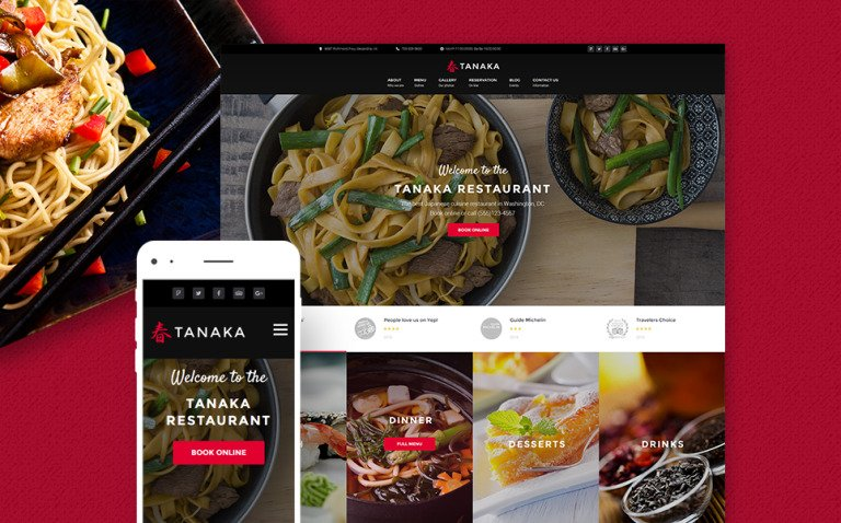 Tanaka - Japanese Restaurant WordPress Theme New Screenshots BIG