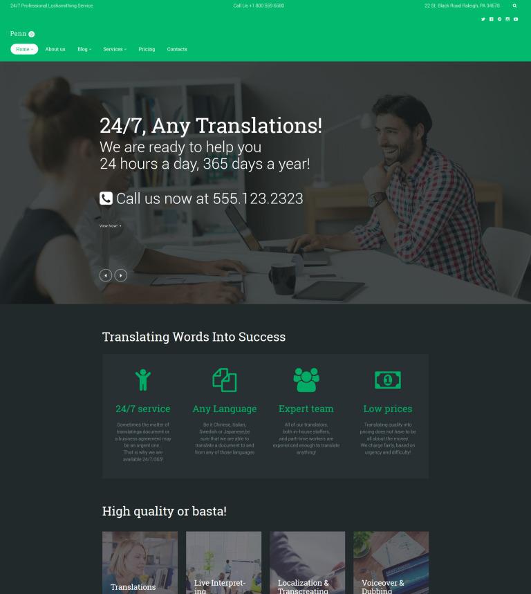 Tema de WordPress #60121 para Sitio de Agenciad de traducción