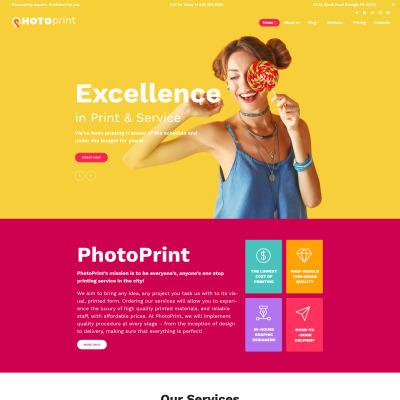 Tema de WordPress #63387 para Sitio de Tienda de Impresión