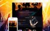 Template Joomla Responsive #60106 per Un Sito di Locale Notturno New Screenshots BIG