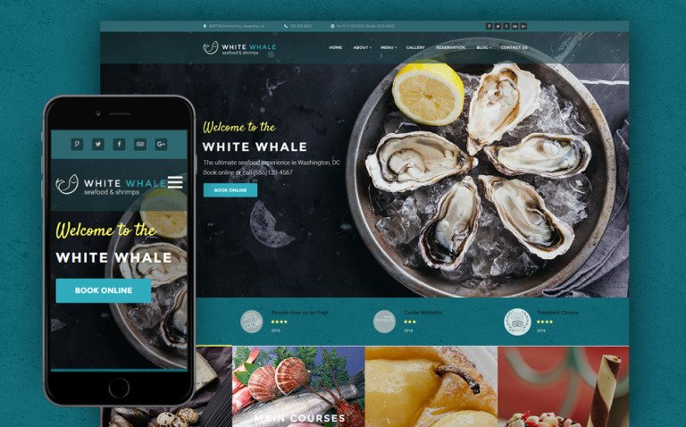 White Whale - Seafood Restaurant WordPress Theme New Screenshots BIG