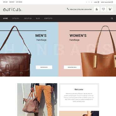 Купить Шаблон интернет магазина сумок и аксессуаров на VirtueMart. Купить шаблон #61115 и создать сайт.