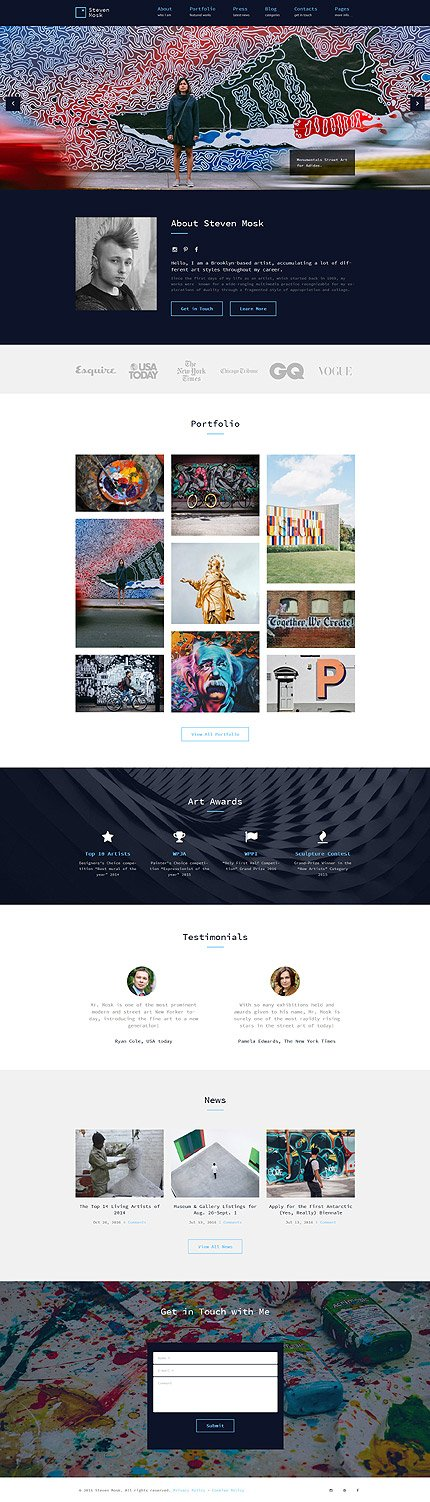 ADOBE Photoshop Template 61116 Home Page Screenshot