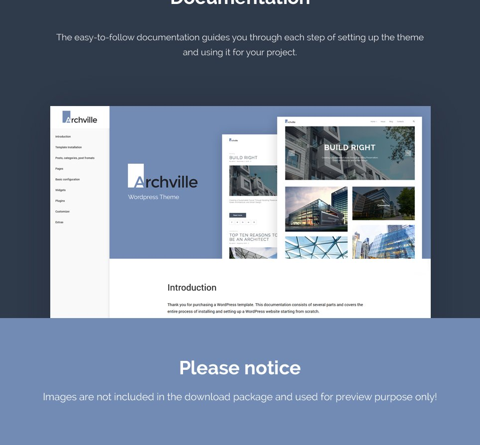 Archville architecture design portfolio wordpress theme for Architecture wordpress