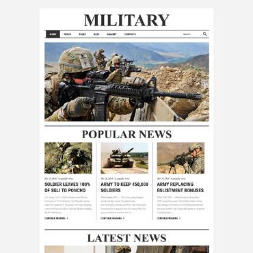 Купить Шаблон сайта военной газеты - Military. Купить шаблон #61136 и создать сайт.