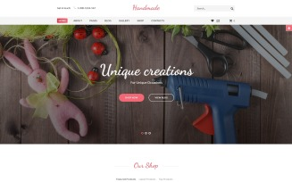 Handmade - Creative Shop Virtuemart & Joomla Template