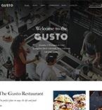 Кафе, рестораны, клубы. Шаблон сайта 61150