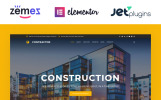 Responsivt WordPress-tema för byggföretag