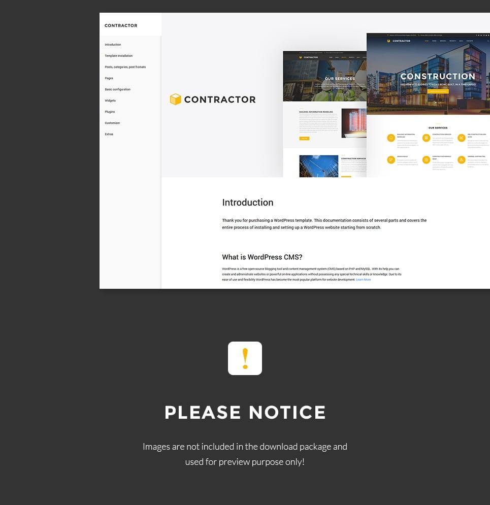 WordPress Theme #61152 für Baufirma