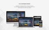 Reszponzív Építőipari vállalatok témakörű  WordPress sablon