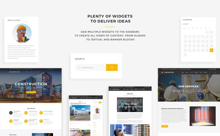 Tema de WordPress #61152 para Sitio de Empresas de construcción