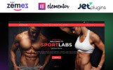 Responsivt SportLabs WooCommerce-tema