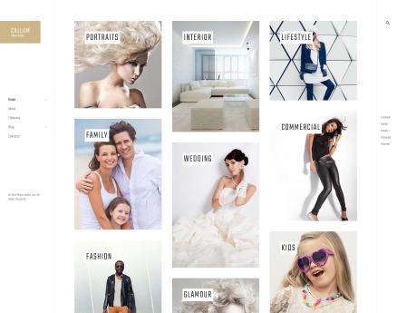 Callum - wedding photo gallery WordPress Theme