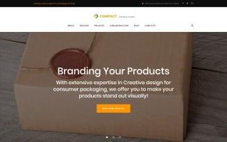 Compact - Packaging Company WordPress Theme