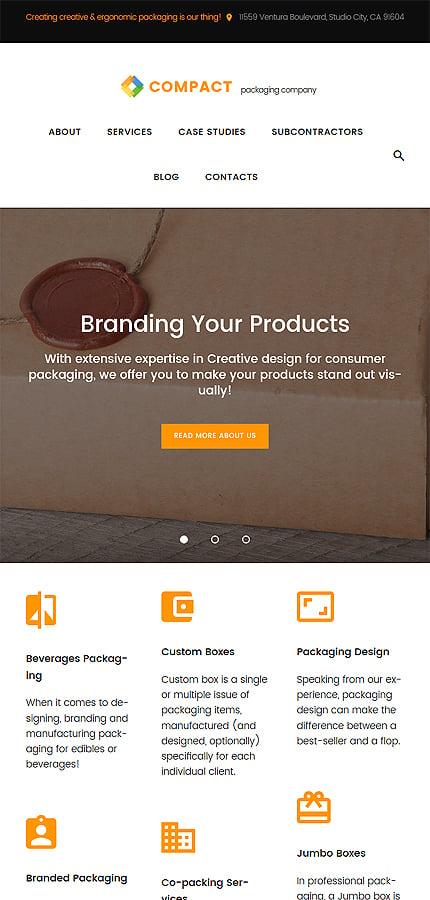 WordPress Theme/Template 61166 Main Page Screenshot