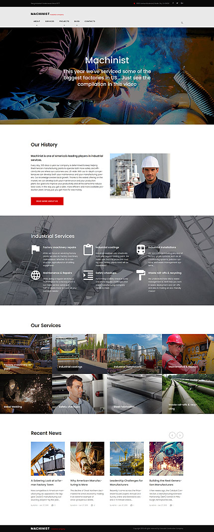 WordPress Theme/Template 61167 Main Page Screenshot