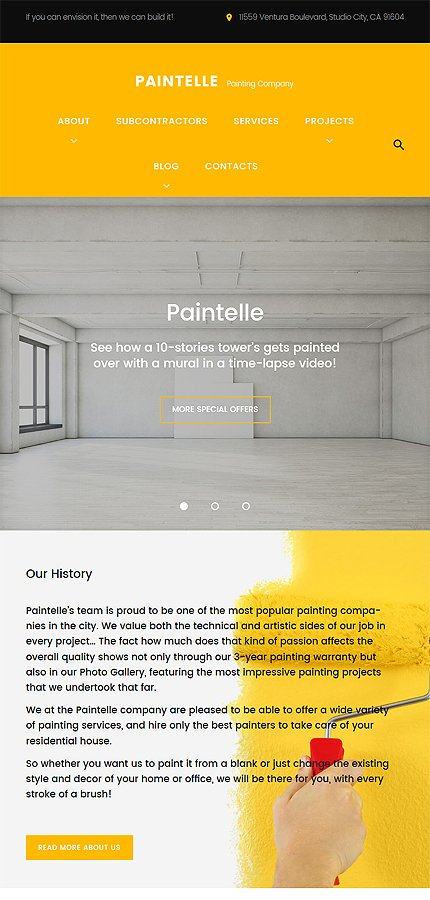 WordPress Theme/Template 61170 Main Page Screenshot