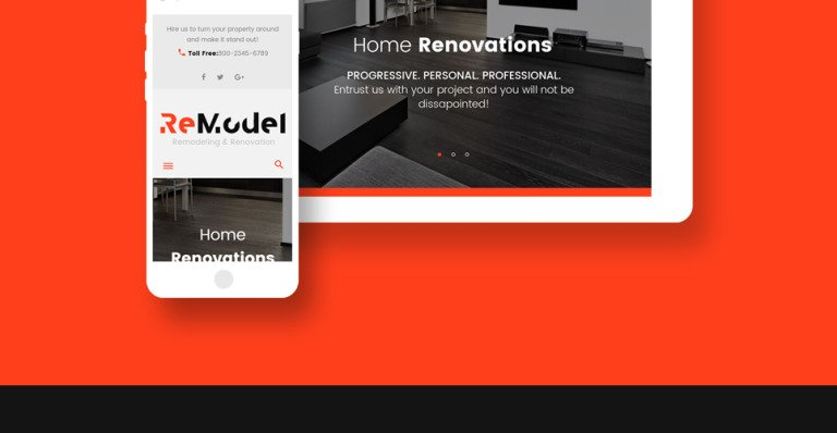 Remodeling Wordpress Theme Was Exclusively Created For Remodeling Renovation Architecture And Interior Design Sites Website Slider Provides For An