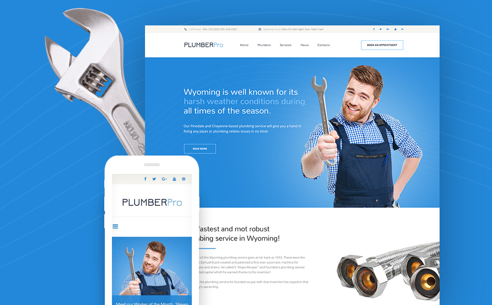 PlumberPro template illustration image