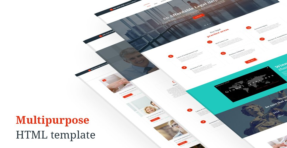 Fenimore Lawyers  Responsive Website Template