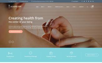 Acupuncture - Alternative Medicine Center Website Template