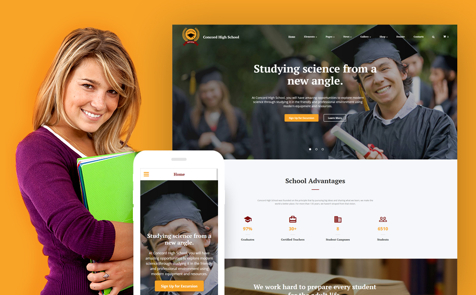 Education Responsive template illustration image