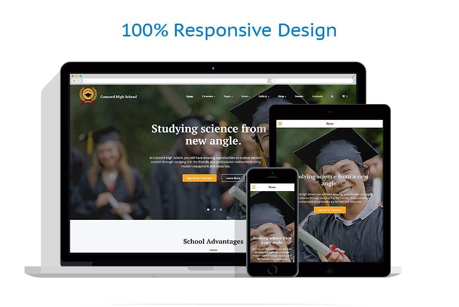 Modèles HTML5 Education #61182