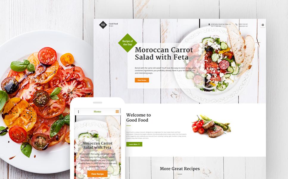 Good Food template illustration image