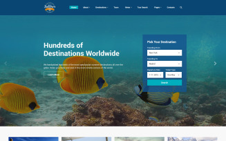 Summer Trip Website Template
