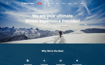 Winter Tour - Tour & Travel Agency Website Template