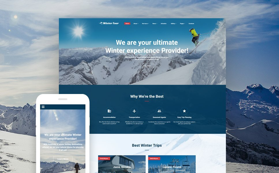 Winter Tour - Tour & Travel Agency template illustration image