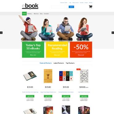 Купить Шаблон книжного интернет-магазина на Virtuemart. Купить шаблон #61196 и создать сайт.
