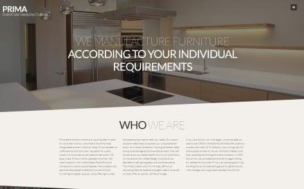 Interior design & furniture Joomla Template