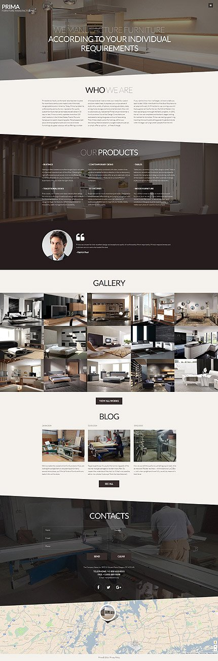 Joomla Theme/Template 61197 Main Page Screenshot
