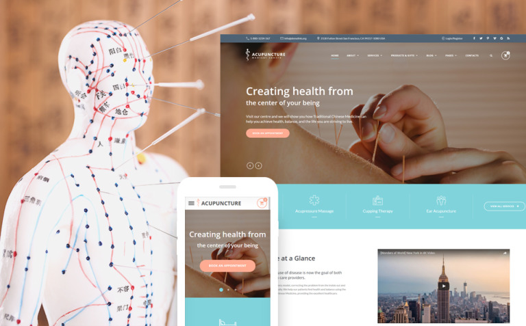 Acupuncture - Alternative Medicine Center Website Template New Screenshots BIG