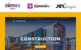 Адаптивний WordPress шаблон на тему будівельна компанія