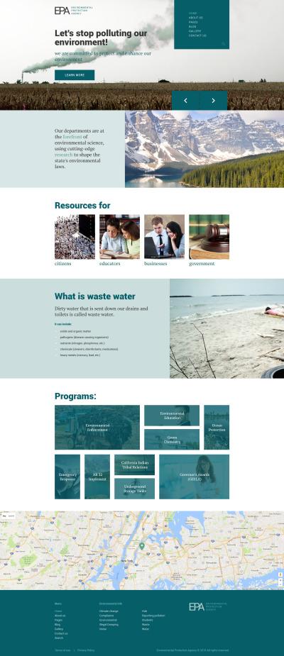 Адаптивный Joomla шаблон №61134 на тему окружающая среда