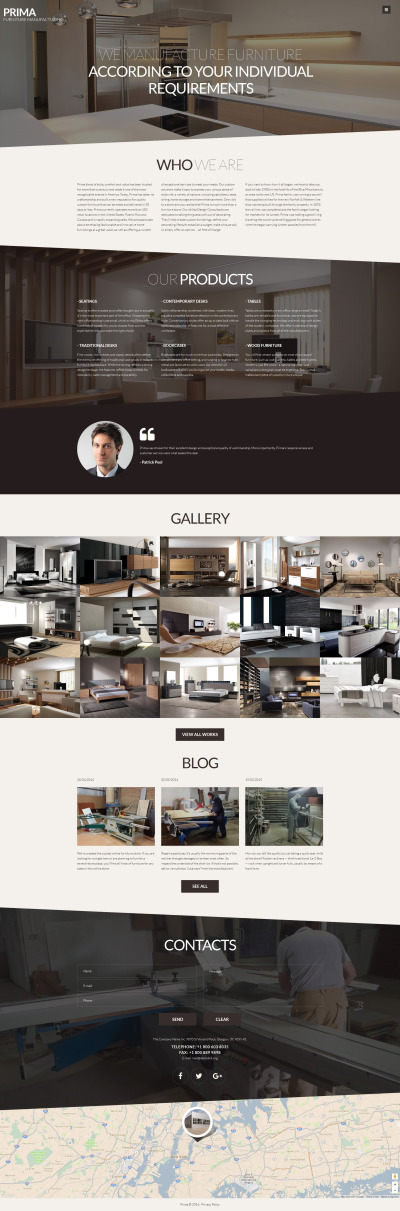 Адаптивный Joomla шаблон №61197 на тему мебель #61197