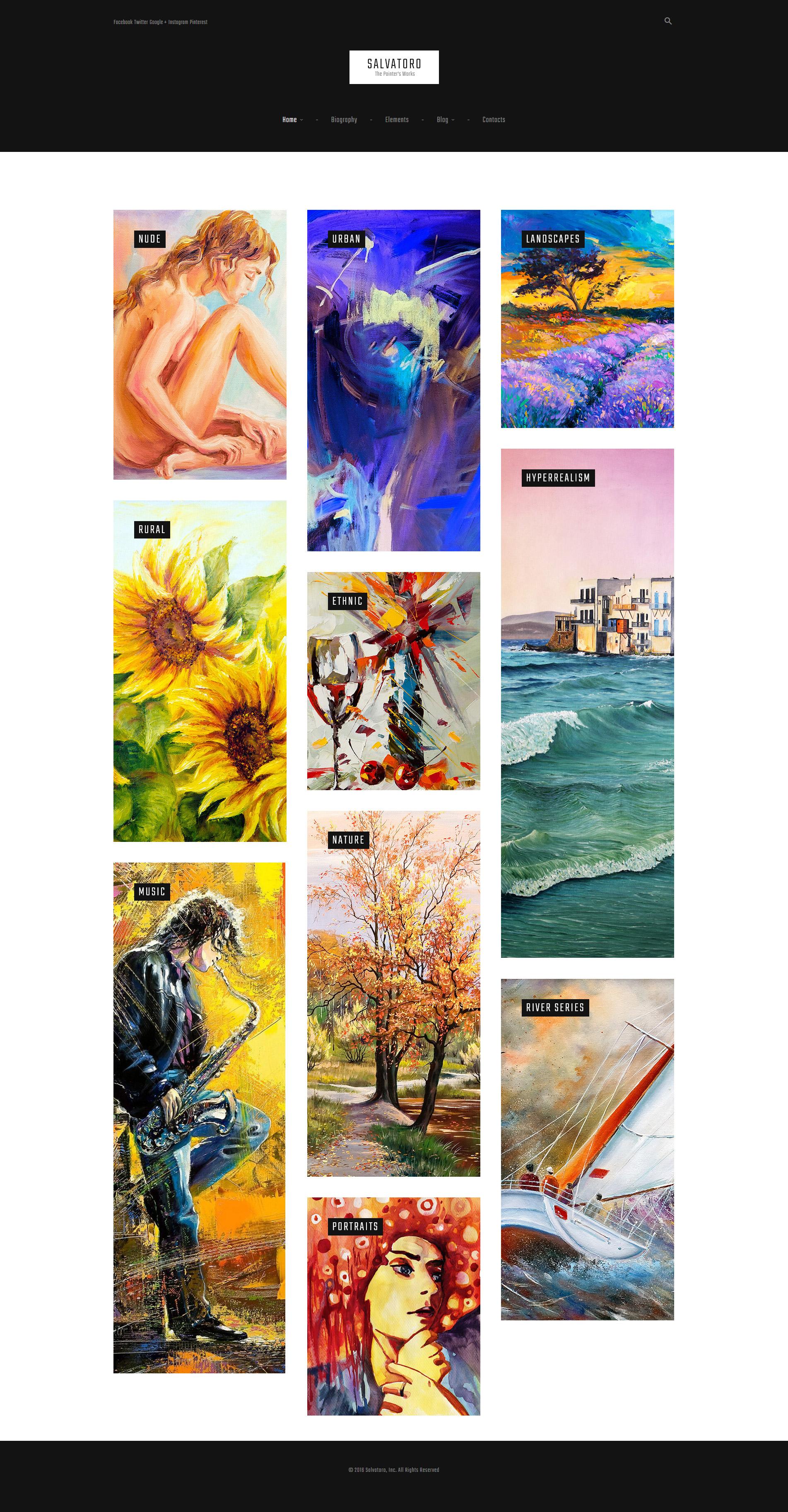 Адаптивный шаблон сайта на тему художественное портфолио #61162