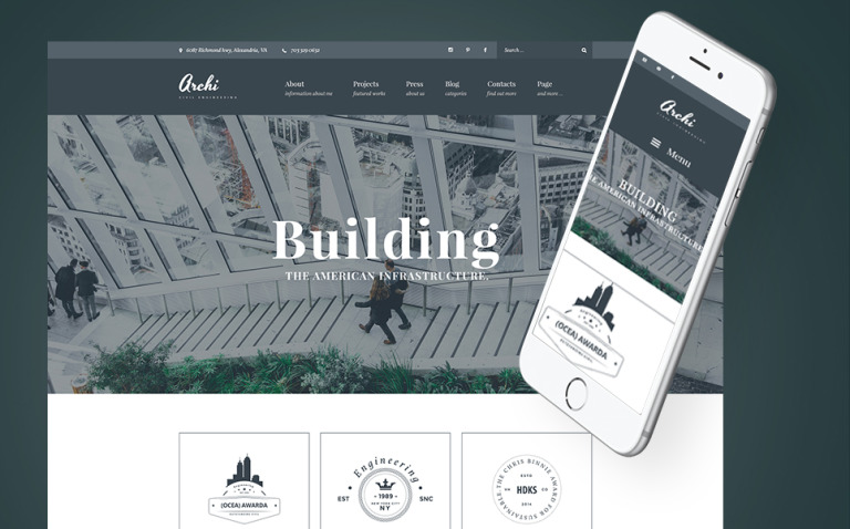 Archi - Civil Engineering And Architecture WordPress Theme New Screenshots BIG