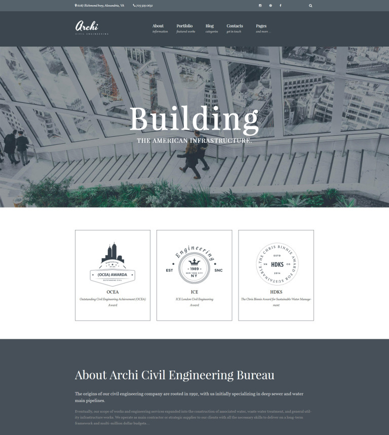 Archi - Civil Engineering And Architecture WordPress Theme