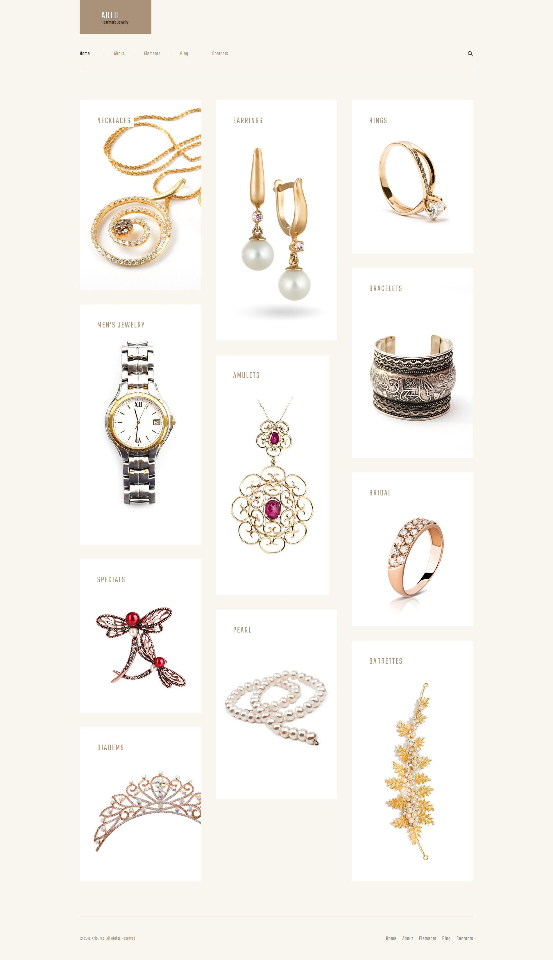 Arlo - Handmade Jewelry Artist Portfolio WordPress Theme